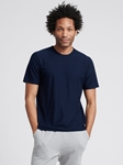 Navy Silk Cashmere Contour Men T Shirt | Naadam Men Henleys & Tees | Sam's Tailoring Fine Men's Clothing