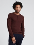 Plum Silk Cashmere Lightweight Henley | Naadam Men Henleys & Tees | Sam's Tailoring Fine Men's Clothing