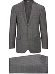 Grey Check Super 150's Tasmanian Wool Suit | Hickey Freeman Suit Collection | Sam's Tailoring Fine Men Clothing