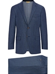 Blue Basketweave Super 150's Tasmanian Wool Suit | Hickey Freeman Suit Collection | Sam's Tailoring Fine Men Clothing
