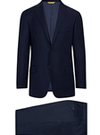 Navy Minicheck Super 150's Tasmanian Wool Suit | Hickey Freeman Suit Collection | Sam's Tailoring Fine Men Clothing