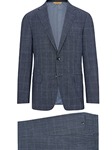 Grey Plaid Super 150's Tasmanian Travel Suit | Hickey Freeman Suit Collection | Sam's Tailoring Fine Men Clothing
