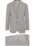Light Grey Four Seasons Super 120's Wool Suit | Hickey Freeman Suit Collection | Sam's Tailoring Fine Men Clothing