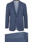 Slate Blue Super 130's Wool Four Seasons B-Fit Suit | Hickey Freeman Suit Collection | Sam's Tailoring Fine Men Clothing