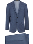 Slate Blue Super 130's Wool Four Seasons H-Fit Suit | Hickey Freeman Suit Collection | Sam's Tailoring Fine Men Clothing