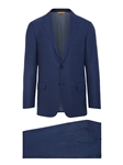 Navy Super 160's Wool Paid Men's Suit | Hickey Freeman Suit Collection | Sam's Tailoring Fine Men Clothing