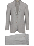 Grey Super 160's Wool Widestripe Men Suit | Hickey Freeman Suit Collection | Sam's Tailoring Fine Men Clothing