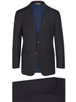 Navy Super 150's Wool H-Fit Tasmanian Suit | Hickey Freeman Suit Collection | Sam's Tailoring Fine Men Clothing
