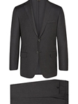 Charcoal Super 150's Wool Tasmanian B-Fit Suit | Hickey Freeman Tasmanian Suits | Sam's Tailoring Fine Men Clothing