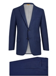 Navy Sharkskin 150's Tasmanian Wool H-Fit Suit | Hickey Freeman Tasmanian Suits | Sam's Tailoring Fine Men Clothing