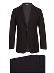 Black Super 150's Tasmanian Wool H-Fit Suit | Hickey Freeman Tasmanian Suits | Sam's Tailoring Fine Men Clothing