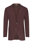 Burgundy Dupioni Traditional Fit Silk Jacket | Hickey Freeman Sportcoats Collection | Sam's Tailoring Fine Men Clothing