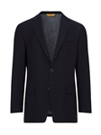 Navy Ottoman Notch Lapels Wool Blazer | Hickey Freeman Sportcoats Collection | Sam's Tailoring Fine Men Clothing