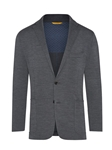 Charcoal Knit Super 130's Wool Men Jacket | Hickey Freeman Sportcoats Collection | Sam's Tailoring Fine Men Clothing