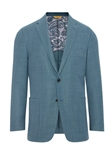 Teal Mesh Global Guardian Notch Lapels Blazer | Hickey Freeman Sportcoats Collection | Sam's Tailoring Fine Men Clothing