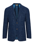 Navy Check Weightless Notch Lapels Jacket | Hickey Freeman Sportcoats Collection | Sam's Tailoring Fine Men Clothing