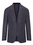Blue Herringbone Weightless Fabric Jacket | Hickey Freeman Sportcoats Collection | Sam's Tailoring Fine Men Clothing