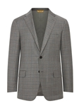 Pewter Grey Plaid B-Fit Traveler Men's Jacket | Hickey Freeman Sportcoats Collection | Sam's Tailoring Fine Men Clothing