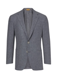 Grey Washed Noble Fibers Men Wool Jacket  | Hickey Freeman Sportcoats Collection | Sam's Tailoring Fine Men Clothing