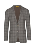 Grey Windowpane Plaid Traditional B-Fit Jacket | Hickey Freeman Sportcoats Collection | Sam's Tailoring Fine Men Clothing