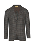 Chocolate Minicheck Traditional B-Fit Jacket | Hickey Freeman Sportcoats Collection | Sam's Tailoring Fine Men Clothing
