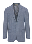Chambray Blue Wool Silk Men's Soft Jacket | Hickey Freeman Sportcoats Collection | Sam's Tailoring Fine Men Clothing