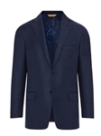 Navy Hopsack Glopal Guardian Men's Blazer | Hickey Freeman Sportcoats Collection | Sam's Tailoring Fine Men Clothing