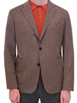 Warm Stone Check 120 Year Celebration Jacket | Hickey Freeman Sportcoats Collection | Sam's Tailoring Fine Men Clothing