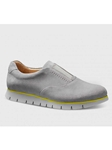 Lunar Gray Suede With Light Gray Sole Womens Shoe | Samuel Hubbard Women Shoes | Sam's Tailoring Fine Men Clothing