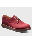 Rustic Red Nubuck With Brown Sole Women Shoe | Samuel Hubbard Women Shoes | Sam's Tailoring Fine Men Clothing