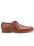Cognac Genuine Alligator Tassel Laces Lago Shoe | Belvedere Spring 2020 Shoes Collection | Sam's Tailoring Fine Men Clothing