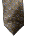 Brown Medallion Corporate Executive Estate Tie | Estate Ties Collection | Sam's Tailoring Fine Men's Clothing