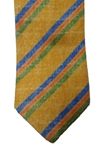 Gold with Multi Color Stripes Wall Street Estate Tie | Estate Ties Collection | Sam's Tailoring Fine Men's Clothing