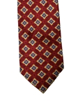 Burgundy Medallion Heritage Executive Estate Tie | Estate Ties Collection | Sam's Tailoring Fine Men's Clothing
