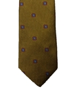 Gold Houndstooth Medallion Corporate Executive Estate Tie | Estate Ties Collection | Sam's Tailoring Fine Men's Clothing