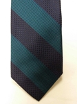 Navy and Teal Stripe Corporate Executive Estate Tie | Estate Ties Collection | Sam's Tailoring Fine Men's Clothing