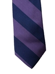 Lavender and Navy Stripe Corporate Executive Estate Tie | Estate Ties Collection | Sam's Tailoring Fine Men's Clothing