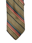Tan with Multi Color Stripes Wall Street Executive Estate Tie | Estate Ties Collection | Sam's Tailoring Fine Men's Clothing
