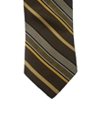 Brown with Multi Color Stripes Wall Street Executive Estate Tie | Estate Ties Collection | Sam's Tailoring Fine Men's Clothing