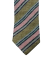 Green With Pink & Blue Stripes Corporate Estate Tie | Estate Ties Collection | Sam's Tailoring Fine Men's Clothing