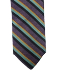 Purple with Multi Color Stripes Corporate Wall Street Wool Estate Tie | Estate Ties Collection | Sam's Tailoring Fine Men's Clothing
