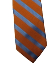 Orange Stripes Executive Heritage Estate Tie | Estate Ties Collection | Sam's Tailoring Fine Men's Clothing