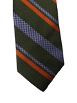 Olive with Multi Color Stripes Corporate Executive Estate Tie | Estate Ties Collection | Sam's Tailoring Fine Men's Clothing