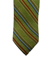 Olive Green with Multi Color Stripes Corporate Executive Estate Tie | Estate Ties Collection | Sam's Tailoring Fine Men's Clothing