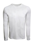 White Pima Cotton Crew Neck Long Sleeve t Shirt | Georg Roth t Shirts | Sams Tailoring Fine Mens Clothing