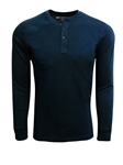 Navy Pima Cotton Long Sleeves Mens Henley | Georg Roth t Shirts | Sams Tailoring Fine Mens Clothing