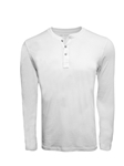 White Pima Cotton Long Sleeves Mens Henley | Georg Roth t Shirts | Sams Tailoring Fine Mens Clothing
