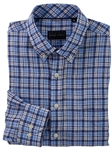 Blue Roth Linen Plaid Long Sleeve Sport Shirt | Bobby Jones Shirts Collection | Sam's Tailoring Fine Men Clothing