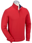 Cambridge Red XH2O RTJ Quarter Zip Pullover | Bobby Jones Sweaters Collection | Sams Tailoring Fine Men's Clothing