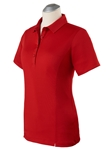 Cambridge Red Taylor Performance Short Sleeve Women Polo | Bobby Jones Women's Polos | Sam's Tailoring Fine Women's Clothing